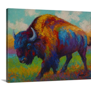 Prairie Muse Bison by Marion Rose Art Print on Canvas