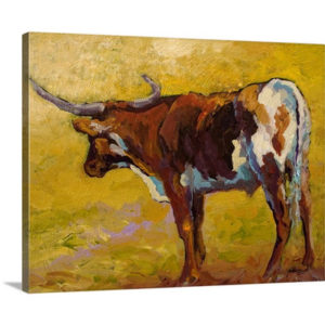 Longhorn Portrait by Marion Rose Art Print on Canvas