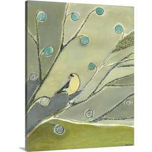 The Goldfinch Waits by Jennifer Lommers Art Print on Canvas
