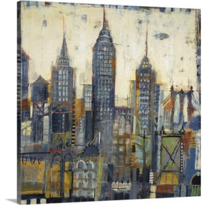 City Sketches by Liz Jardine Painting Print on Canvas