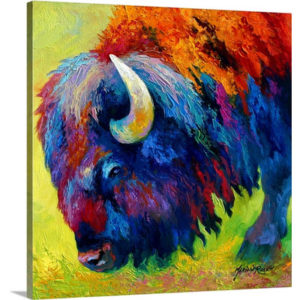 Bison Portrait II by Marion Rose Art Print on Canvas