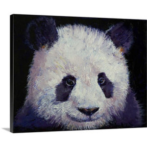 Baby Panda by Michael Creese Art Print on Canvas