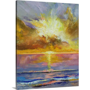 Caribbean Sunset by Michael Creese Art Print on Canvas