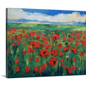 Field of Poppies by Michael Creese Canvas Art Print