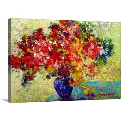 Abstract Floral by Marion Rose Art Print on Canvas