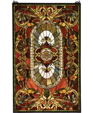 Stained glass panels windows shop home decor art home for 18x18 window