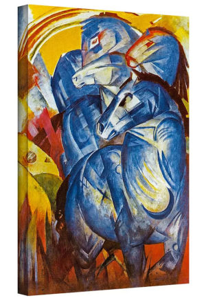 A Tower of Blue Horses by Franz Marc Painting Print on Canvas