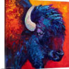 Bison Head II by Marion Rose Painting Print on Canvas