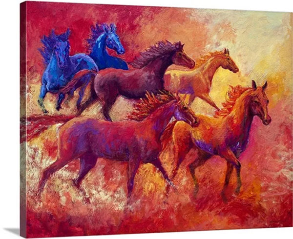Bring The Mares Home by Marion Rose Painting Print on Canvas