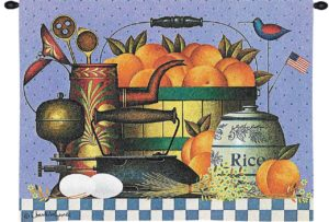 Peaches by Charles Wysocki | Wall Tapestry | 34 x 26
