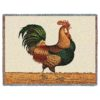 Rooster by Charles Wysocki | Throw Blanket | 70 x 54