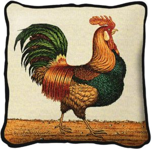 Rooster by Charles Wysocki   Throw Pillow   17 x 17
