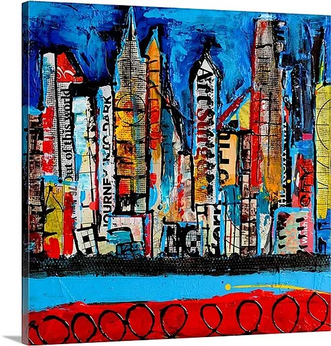 City on my Mind by Erin Ashley Art Print on Canvas