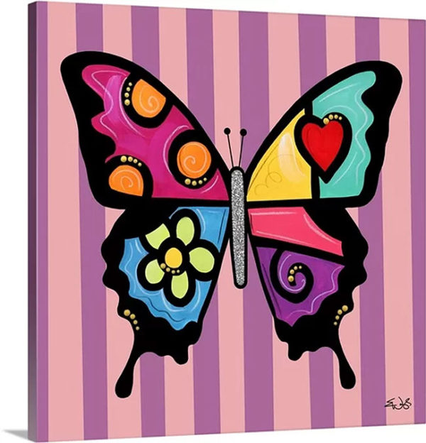 Butterfly Flower by Eric Waugh Art on Canvas
