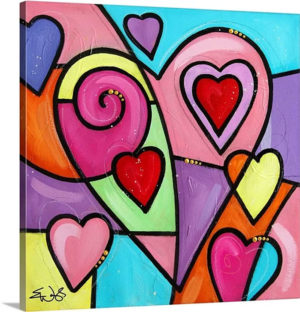 Colourful Love II by Eric Waugh Art Print on Canvas