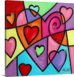 Colourful Love III by Eric Waugh Painting Print on Canvas