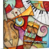 Jazz Makers II (Trumpet) by Eric Waugh Painting Print on Canvas