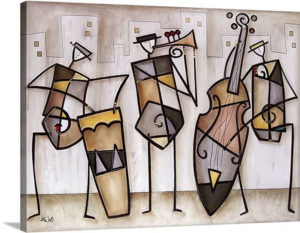 Urban Trio by Eric Waugh Painting Print on Canvas | Canvas On Demand