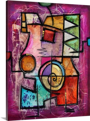 Violeto II by Eric Waugh Art Print on Canvas