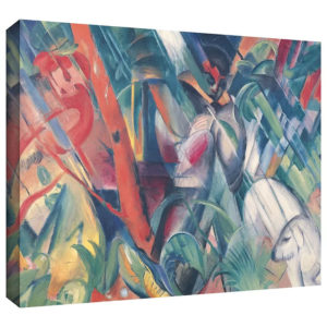 In the Rain by Franz Marc Painting Print on Gallery Wrapped Canvas
