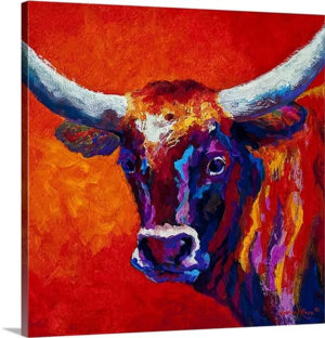 Steer by Marion Rose Art Print on Canvas