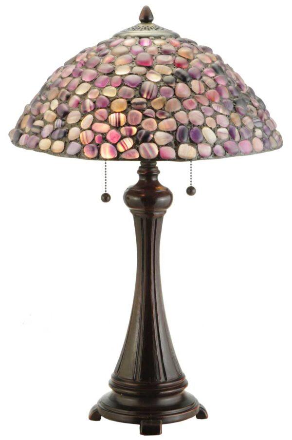 "25""H Jasper Purple Table Lamp"