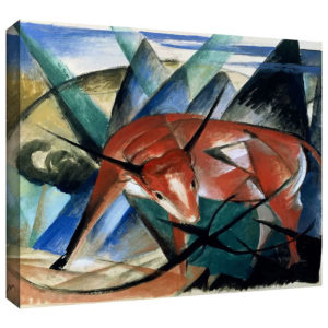 Red Bull by Franz Marc Painting Print on Gallery Wrapped Canvas