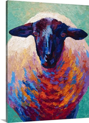 Suffolk Ewe by Marion Rose Art Print on Canvas