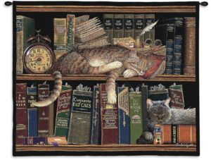 Remington the Well-Red (Sleeping Cat) | 34 x 26 | Tapestry Wall Hanging