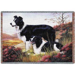 "Border Collie | Tapestry Blanket | 70"" x 54"""