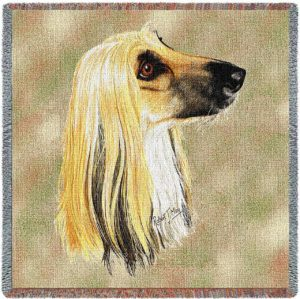 "Afghan Breed Portrait | Throw Blanket | 54"" x 54"""