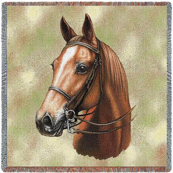 American Saddlebred Horses   Throw Blanket