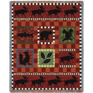 Adirondack Lodge Country | Throw Blanket | 70 x 53