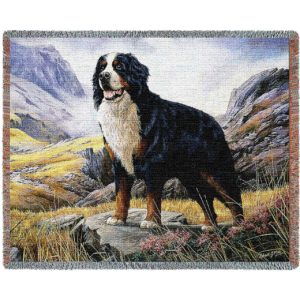 "Bernese Mountain Dog | Tapestry Blanket | 54"" x 70"""