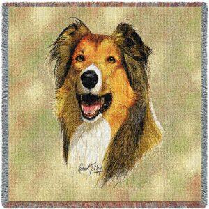"Rough Collie Breed Portrait | Throw Blanket | 54"" x 54"""