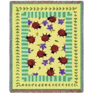 Lady Bug Garden | Tapestry Blanket | 54 x 70