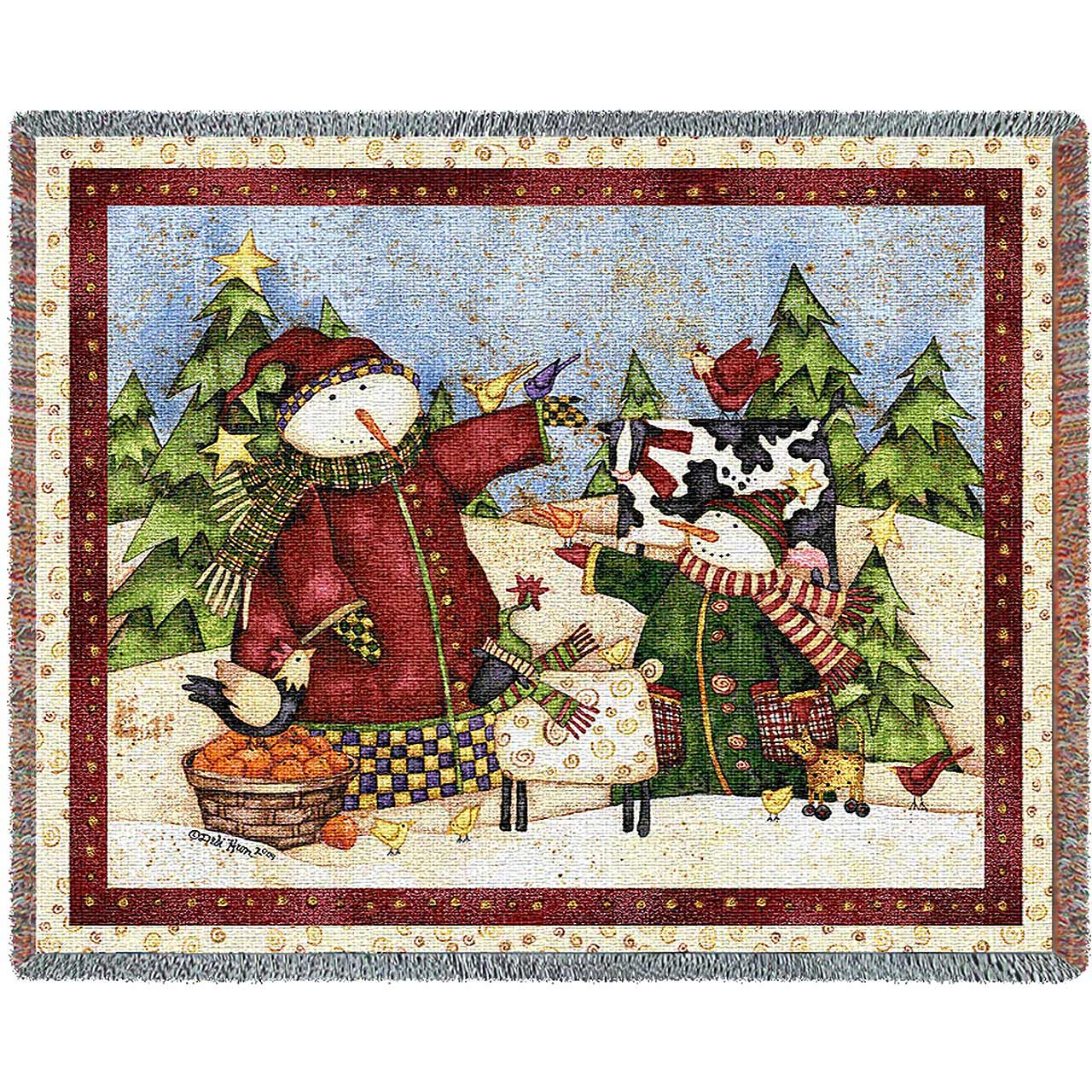 Magic Snowmen | Christmas Seasonal Throw Blanket