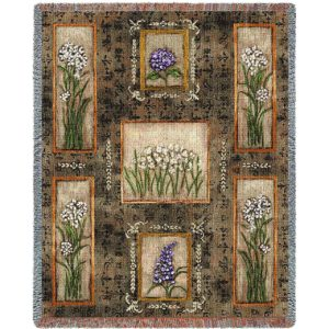 Garden Maze | Afghan Blanket | 54 x 70