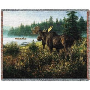 In His Domain (Moose) | Tapestry Blanket | 70 x 54
