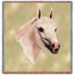 Arabian Horses | Throw Blanket | 54 x 54
