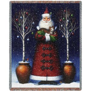 Kitty Santa | Christmas Seasonal Throw Blanket
