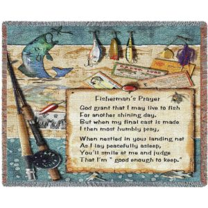 "Fisherman's Prayer | Tapestry Blanket | 54"" x 70"""