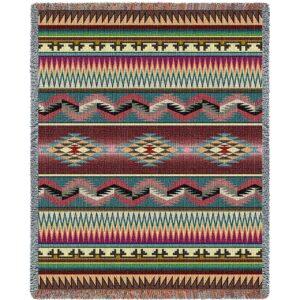 Desert Stripe | Southwestern Throw Blanket | 53 x 70