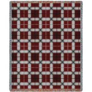 Brickcraft Plaid | Tapestry Blanket | 53 x 70