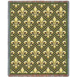 "Fleur De Lis | Tapestry Blanket | 54"" x 70"""