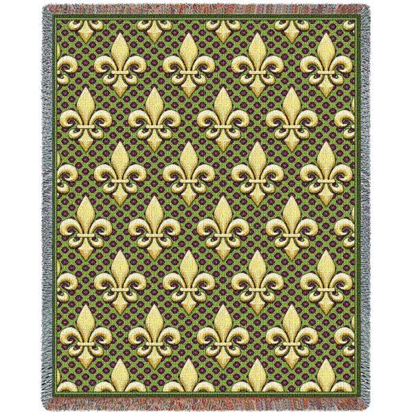 "Fleur De Lis   Tapestry Blanket   54"" x 70"""