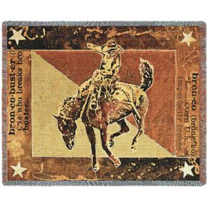 Bust Over Moon (Cowboy) | Tapestry Blanket | 70 x 54
