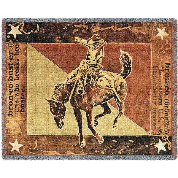 Bust Over Moon (Cowboy)   Tapestry Blanket   70 x 54