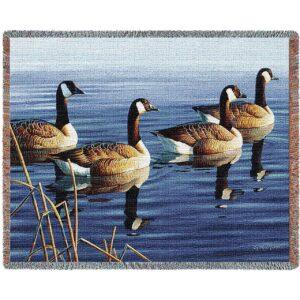 Afternoon Procession (Geese) | Afghan Blanket | 70 x 53