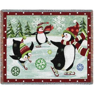 Christmas Penguin Blanket | 70 x 54